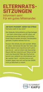 Informiert sein - der Flyer vom Elternrat KAIFU